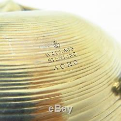 Vintage Wallace Argent 925 Clam Coquillage Design Footed Snack Plat