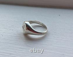 Vivienne Westwood Extrêmement Rare Sigillo Ring Sterling Silver 925