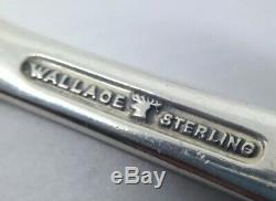 Wallace Grande Baroque Sterling Silver Flatware 4pc Dressée Tailles Listed